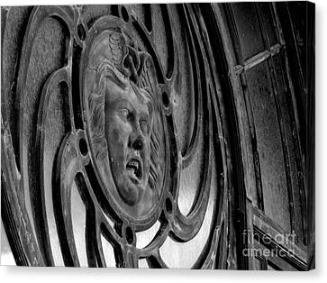 Face On Casino Carousel House Canvas Print by Ben Schumin