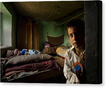 Faces Of Childhood Canvas Print by Mihnea Turcu