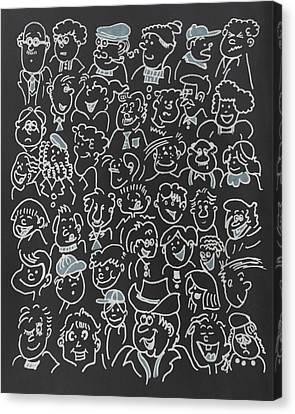 Faces Canvas Print by Art Spectrum