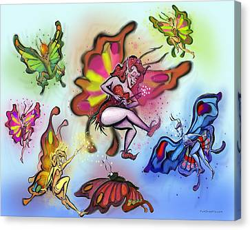 Faeries Canvas Print by Kevin Middleton