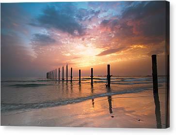 Fahaheel Sunrise Kuwait Canvas Print by Shahbaz Hussain's Photos