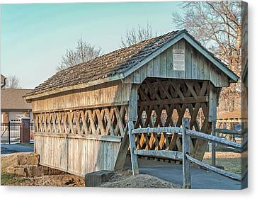 Fairgrounds Covered Bridge Canvas Print by Jack R Perry