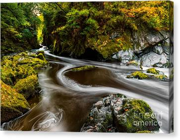 Fairy Glen Autumn Canvas Print by Adrian Evans