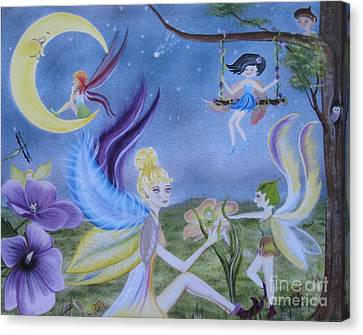 Fairy Play Canvas Print by RJ McNall