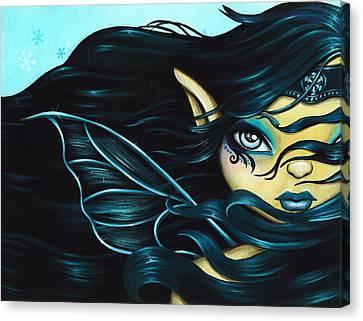 Fairy Snowflake Canvas Print by Elaina  Wagner