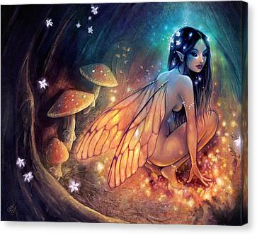 Fairydust Nest Canvas Print by Caroline Jamhour