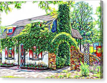 Fairytale Cottage In The Valley Canvas Print by Anna Sheradon