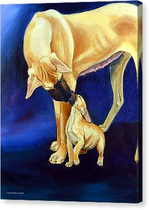 Faith And Hope Great Dane Canvas Print by Lyn Cook