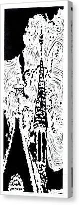 Faith--hand-pulled Linoleum Cut Relief Print Canvas Print by Lynn Evenson