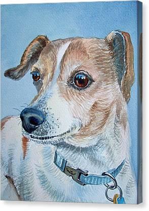 Beloved Dog Commission By Irina Sztukowski  Canvas Print by Irina Sztukowski