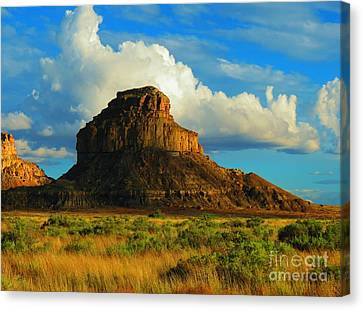 Fajada Butte At Days End Canvas Print by Feva Fotos