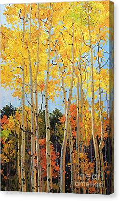 Fall Aspen Santa Fe Canvas Print by Gary Kim