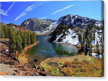 Fall At Ellery Lake Canvas Print by David Toussaint - Photographersnature.com