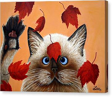 Fall Cat Canvas Print by Chris Law