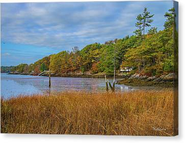 Fall Colors In Edgecomb Too Canvas Print by Tim Kathka
