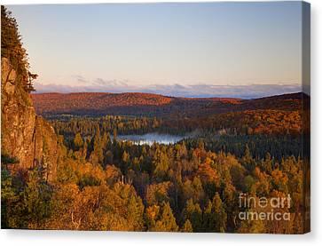 Fall Colors Orberg Mountain North Shore Minnesota Canvas Print by Wayne Moran