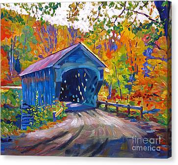 Fall Comes To Downer Vermont Canvas Print by David Lloyd Glover