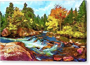 Fall Foliage At Ledge Falls 2 Canvas Print by Bill Caldwell -        ABeautifulSky Photography