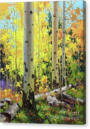 Fall Forest Symphony II Canvas Print by Gary Kim