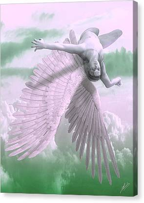 Fall Of Icarus - Cool Tones Canvas Print by Joaquin Abella