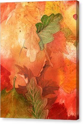 Fall Impressions V Canvas Print by Irina Sztukowski