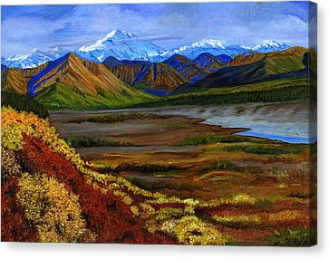 Fall In Alaska Canvas Print by Vidyut Singhal