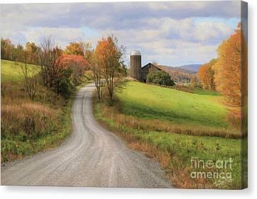 Fall In Rural Pennsylvania Canvas Print by Lori Deiter