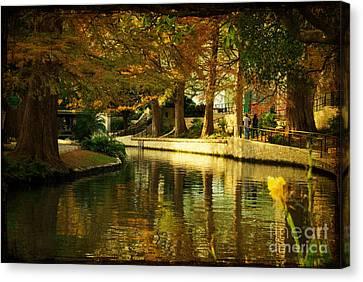 Fall In San Antonio Canvas Print by Iris Greenwell