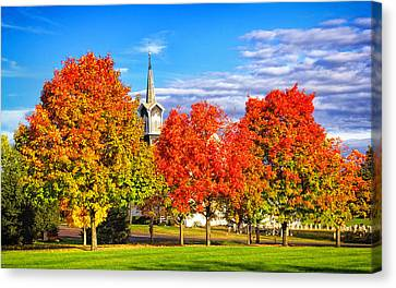 Fall In The Country Canvas Print by Carolyn Derstine