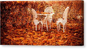 Fall In The Garden Canvas Print by Maggie Terlecki