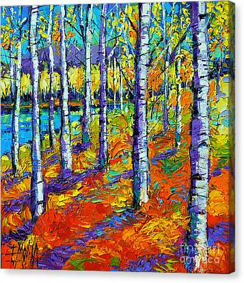 Fall Mood Canvas Print by Mona Edulesco