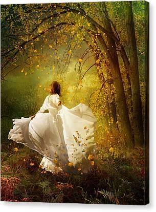 Fall Splendor Canvas Print by Mary Hood