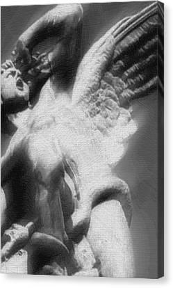 Fallen Angel Vertical Canvas Print by Tony Rubino