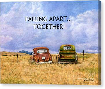 Falling Apart Together Canvas Print by Sarah Batalka