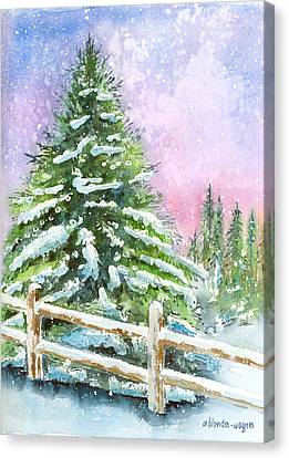 Falling Snowflakes Canvas Print by Arline Wagner