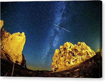 Falling Star Canvas Print by Okan YILMAZ