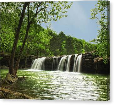 Falling Water Canvas Print by Ron McGinnis