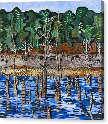 Falls Lake At Six Forks Road Canvas Print by Micah Mullen