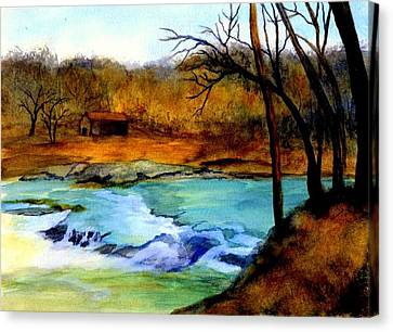 Fallsburg Ky Falls Canvas Print by Gail Kirtz