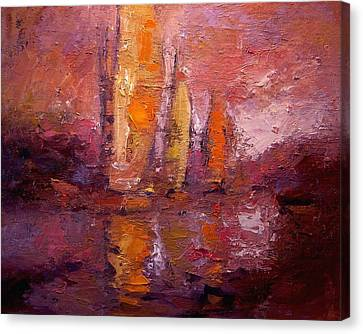 Fallucas At Dusk Canvas Print by R W Goetting