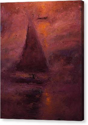 Falucca At Dusk Canvas Print by R W Goetting