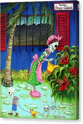 Familia Garcia Calderon Canvas Print by Heather Calderon