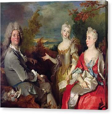 Family Portrait Canvas Print by Nicolas de Largilliere
