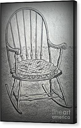 Family Rocker Canvas Print by Linda Eversole