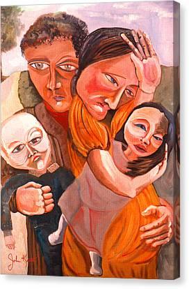 Family Struggle Canvas Print by John Keaton