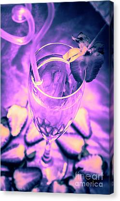 Fancy Champagne With Sliced Strawberries Canvas Print by Jorgo Photography - Wall Art Gallery
