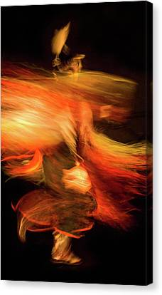 Fancy Dancer Canvas Print by Jeremiah Armstrong