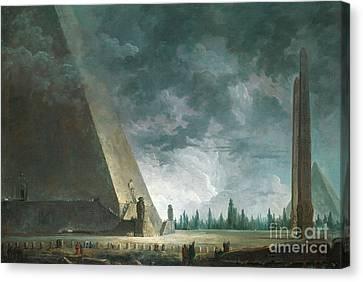 Fantaisie Egyptienne Canvas Print by Hubert Robert