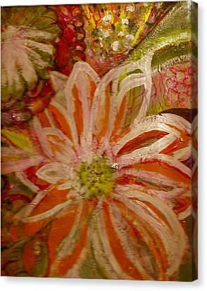 Fantasia With Orange And White Canvas Print by Anne-Elizabeth Whiteway