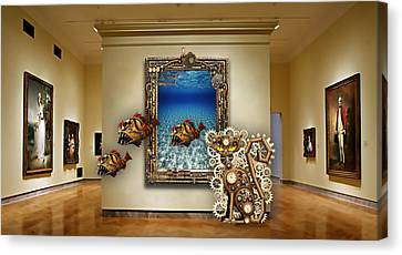 Fantasy Art Museum Collection Canvas Print by Marvin Blaine